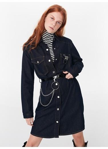 Twist Elbise İndigo